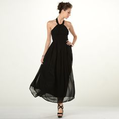 Buy 'YesStyle Z – Sleeveless Halter Neck A-Line Evening Gown' with Free International Shipping at YesStyle.com. Browse and shop for thousands of Asian fashion items from Hong Kong and more!