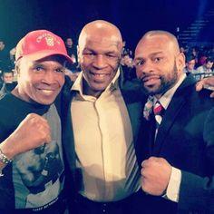 Sugar Ray Leonard, Mike Tyson, and Roy Jones Jr. 3 of my boxing heroes