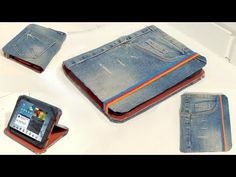 Recycle your old jeans. How to make a tablet case with old jeans. - YouTube
