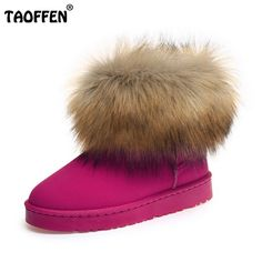 (33.99$)  Watch more here  - Size 35-40 Russia Winter Warm Thickened Fur Women Flat Half Short Ankle Snow Boots Plush Winter Footwear Boot Shoes W0012