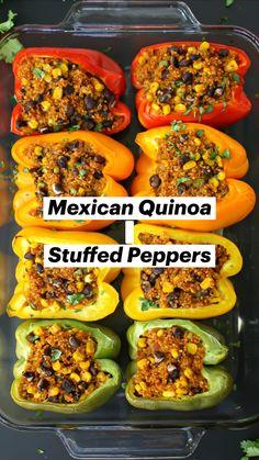 Vegan Meal Prep, Vegetarian Lunch, Vegetarian Cooking, Healthy Cooking, Vegetarian Recipes, Healthy Recipes, Vegetable Recipes, Beef Recipes, Mexican Food Recipes