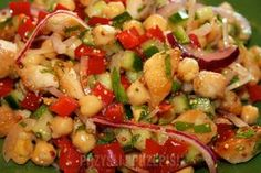Sałatka z kurczaka i ciecierzycy I Appetizer Salads, Appetizers, Kung Pao Chicken, Fruit Salad, Pasta Salad, Quinoa, Potato Salad, Healthy Recipes, Healthy Foods