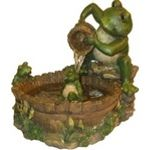 Eternity Tabletop Fountain: Mother Frog Bathing Family - A.M.B. Furniture & Design