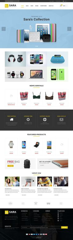 Sara is a fast and effective #WordPress #theme for multipurpose #onlineshop eCommerce website with 8 stunning homepage layouts download now➯ https://themeforest.net/item/sara-woocommerce-wordpress-market-theme/16572433?ref=Datasata