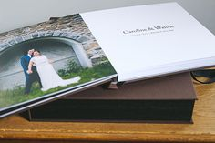 Beautiful Linen Wedding Album