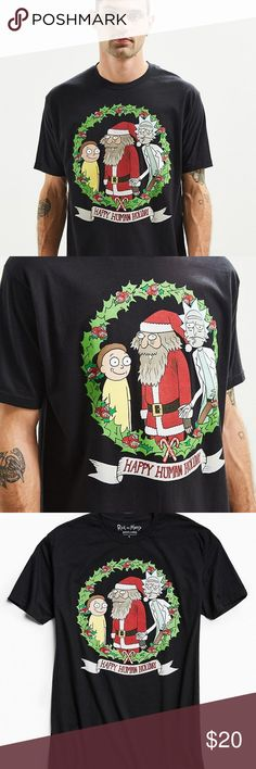 Rick and Morty Adult Swim Holiday T-Shirt from UO New with Tag! Never Worn! Rick and Morty Adult Swim Holiday T-Shirt from UO! Was going to twin with a friend of mine, but he had no chill! LOL, so selling this awesome Rick & Morty Holiday T-Shirt to a real fan! I know it's not the Holidays, but what the heck Happy Human Holiday! Men size XL! Urban Outfitters Shirts
