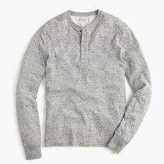 J.Crew Gift Guide: men's double-knit henley.