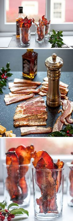 Whiskey Spiked Maple Bacon | Click for 30 Easy Holiday Appetizer Recipes | Easy Christmas Appetizers for a Party