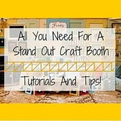 All You Need For A Stand Out Craft Booth – Tutorials And Tips!  http://www.craftmakerpro.com/business-tips/need-stand-craft-booth-tutorials-tips/