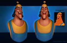 """""""Kronk"""" - 3D model by Polycount user Ravenslayer. Daily Disney Doodles - Polycount Forum"""