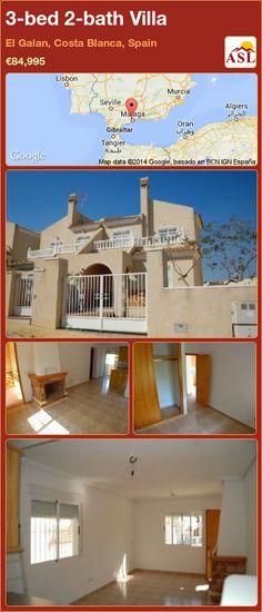 3-bed 2-bath Villa in El Galan, Costa Blanca, Spain ►€84,995 #PropertyForSaleInSpain