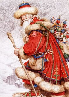 Anne Yvonne Gilbert : Father Christmas with toys
