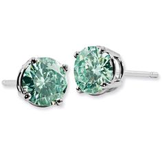 ApplesofGold.com - Forever Brilliant 1 Carat Green Moissanite Stud Earrings, $475!