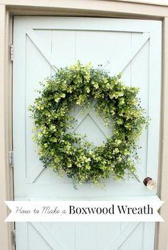 how to make a boxwood wreath - Wreath Design Ideas