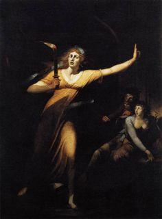 John Heinrich Füssli, Lady Macbeth somnambule, huile sur toile, 221 x 160 cm, Paris, Louvre.