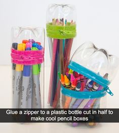 40 Cool Ways To Upcycle And Reuse Plastic Bottles Empty Plastic Bottles, Plastic Bottle Crafts, Recycled Bottles, Recycled Glass, Cricut Vinyl, Water Bottle Crafts, Water Bottles, Bottle Candles, Diy Bottle