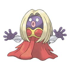 Jynx - 124 - It wiggles its hips as it walks. It can  cause people to dance in unison with it. It speaks using a language that sounds human. Research is under way to determine what is being said.  @PokeMasters