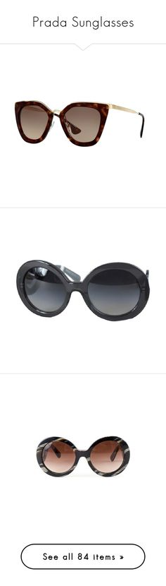 """""""Prada Sunglasses"""" by snobswap ❤ liked on Polyvore featuring accessories, eyewear and sunglasses"""