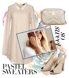 """""""So Sweet: Pastel Sweaters"""" by laurabosch on Polyvore featuring Twinset, STELLA McCARTNEY and pastelsweaters"""