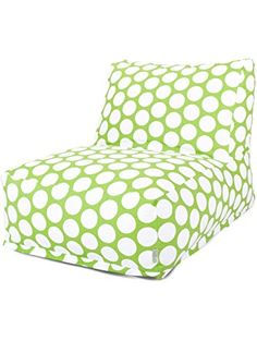 Indoor Hot Green Large Polka Dot Bean Bag Chair Lounger - modern - chairs - Majestic Home Goods Bean Bag Lounger Chair, Bean Bag Chair, Polka Dot Print, Polka Dots, Bean Bag Furniture, Furniture Chairs, Modern Furniture, Furniture Ideas, Furniture Design