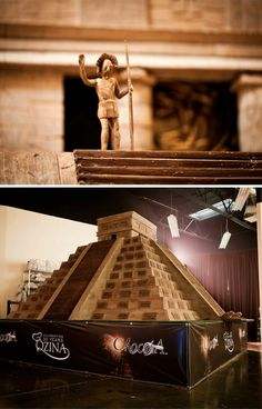 The largest chocolate scuplture weighs 8 tons