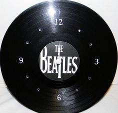 THE BEATLES White Vinyl Record LP Wall Clock by PandorasCreations, $25.00