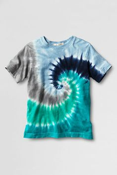 Tie dye shirts use color and pattern very effectively to convey an emotion or message. Depending on the color and type of pattern the item has, the feeling can change dramatically from just a plain white t shirt.