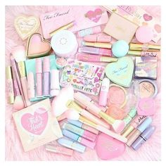 Pastel Prettiness!????Happy Saturday beauties!???So in love with... ❤ liked on Polyvore featuring beauty products