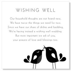 Non-tacky wishing well poems and sayings: asking for money ...
