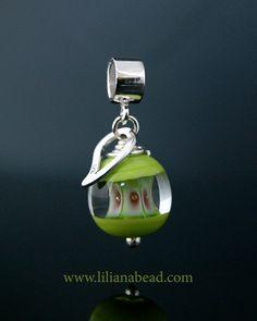 Green Apple Core Charm