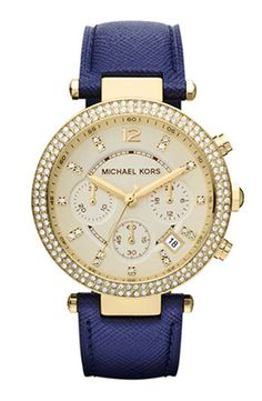 gorgeous // Michael Kors Parker Chronograph Leather Watch 39mm