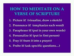 How to meditate on Bible helps