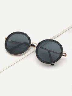 1669e0bad9 SHEIN offers Round Lens Sunglasses   more to fit your fashionable needs.