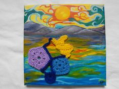 Deep edged canvass size 29 Materials include Acrylic paint and do. Growing Your Business, Starting A Business, Kids Rugs, Deep, Crochet, Artwork, Painting, Color, Work Of Art