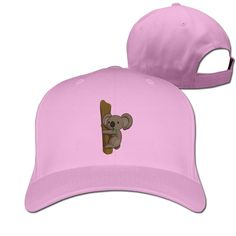 Custom Koala In The Tree Adult Adjustable Peaked Hunting Caps Pink -- Awesome products selected by Anna Churchill