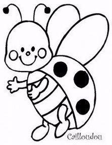 ladybugcoloringpage  Coloring Pages  Pinterest  Ladybug