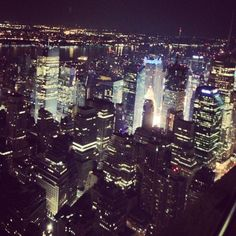 View from the Empire State Building.  #Love  #NYC #Lights #NewYork