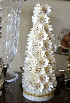 ornaments made from styrofoam egg cartons - Google Search