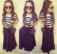 Striped Top & Maxi Skirt