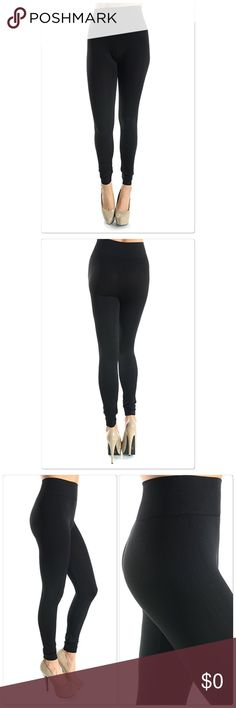 Seamless High waisted Leggings(Black) Seamless high waisted leggings. 92% Polyester, 8% Spandex . Colors Available: Black, Charcoal. Has a great feel to them. Fit comfortably anyone who wears a 4-14. Possibly depending on body structure. Thanks Boutique Pants Leggings