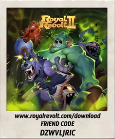 Build your own kingdom and lead your army to victory! https://youtu.be/LbRen7Q5Ja0  Download Royal Revolt 2 on your mobile device: www.royalrevolt.com/download    Start the game and get an EPIC reward by entering this friend code: DZWVLJRIC