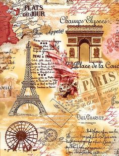 Masterpiece of Art: From Paris with Love Decoupage Vintage, Vintage Diy, Vintage Labels, Vintage Postcards, Vintage Paris, Vintage Pictures, Vintage Images, Paris Images, Paris Art