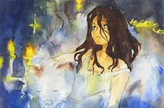 Cover of one work from artbook. Another watercolor practice. Great Novels, No 6, Manga Cute, Cartoon Shows, Japanese Artists, See Picture, Anime Stuff, Book Art, Crying