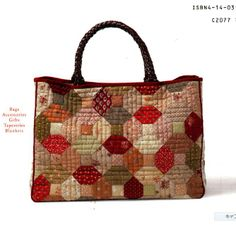 Carry-all in hexagonal quilted pattern.