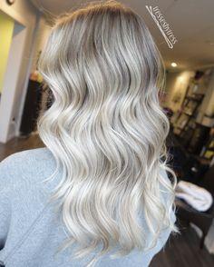 Platinum white blonde ash balayage