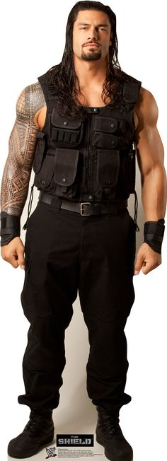 Advanced Graphics 1579 Roman Reigns - x - Cardboard Standup Wwe Superstar Roman Reigns, Wwe Roman Reigns, Wrestling Superstars, Wrestling Wwe, Ufc, Roman Regins, Black Leather Vest, Wwe Wrestlers, My Guy