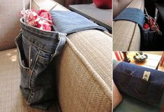 A Phone Charging Holder via : pinterest With a charging holder like this, forget about finding surfaces to put your phone on while it gets charged. Just connect it to the charger and slip it in this holder. Rugs Made with Woven Jeans Fabric via : kidspacestuff If any space on your floor is in