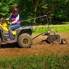 Our ATV Landscape Rake has a variety of uses all around your property. It is a terrific tool for finish grading and leveling of any loose material—gravel or stone on driveways, topsoil on lawns, horse rings, or playing fields. Tractor Drawbar, Tractors, Atv Implements, Landscape Rake, Towing Vehicle, Tractor Attachments, Atv Accessories, Lawn Maintenance, 4 Wheelers
