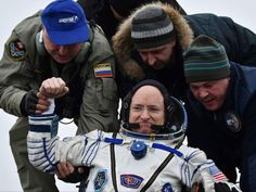 NASA reports that astronaut Scott Kelly and his Russian colleague Mikhail Kornienko have returned to Earth on Tuesday night, after a historic 340-day mission at the International Space Station. The space travellers touched down in Kazakhstan at 11:26 p.m. EST.Joining their arrival trip on board