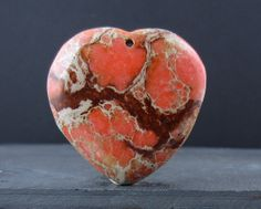 Sale 15 Gorgeous orange Impression Jasper cabochon by Balibagus, $14.00